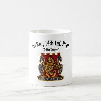 """Caneca De Café ø Batalhão, 14o """"copo dos dragões dourados"""" dos"""