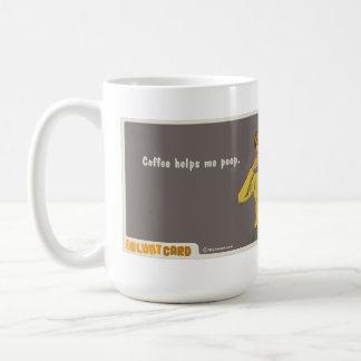 Caneca De Café o café ajuda-me tombadilho