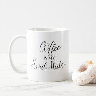 Caneca De Café O café é minha alma gémea