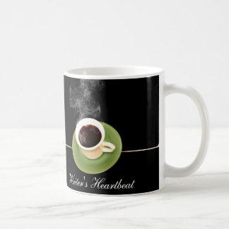 Caneca De Café O café é uma pulsação do coração dos escritores