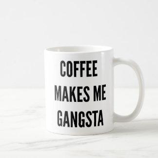 Caneca De Café O café engraçado do Natal faz-me o gangsta