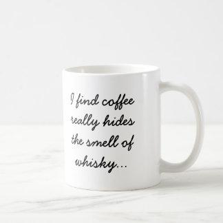Caneca De Café O café esconde o cheiro do uísque