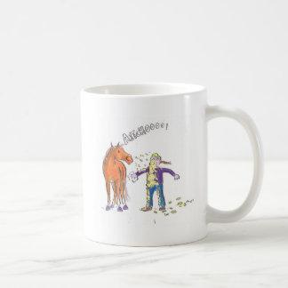 Caneca De Café O cavalo Sneezes desenhos animados engraçados