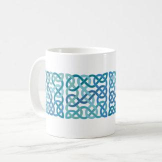Caneca De Café O céltico escocês quadrado azul ata o painel