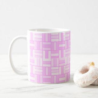 Caneca De Café O cerâmico-olhar cor-de-rosa telhou o teste padrão