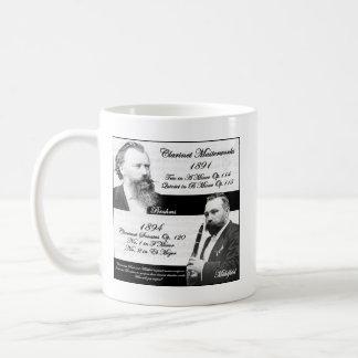 Caneca De Café O Clarinetist Mühlfeld inspirou Brahms