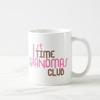 Caneca De Café ø Clube das avós do tempo (rosa)