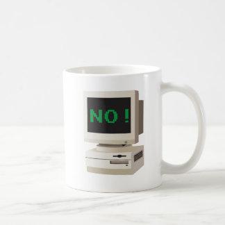 Caneca De Café O computador diz NÃO!