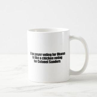 Caneca De Café O contribuinte que vota para Obama é como uma