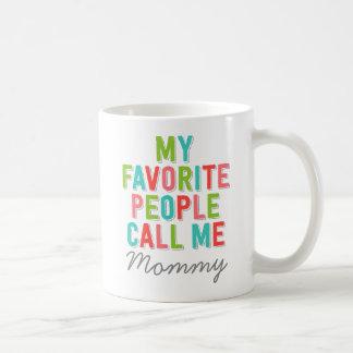 Caneca De Café O costume minhas pessoas favoritas chama-me