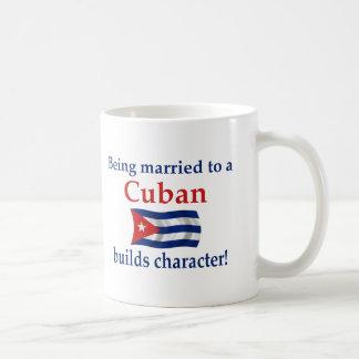 Caneca De Café O cubano constrói o caráter