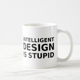 Caneca De Café O design inteligente é estúpido