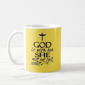 Caneca De Café O deus é com seu dia das mães cristão