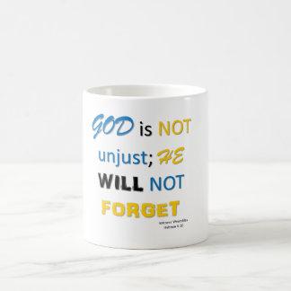 Caneca De Café O deus não é copo injusto