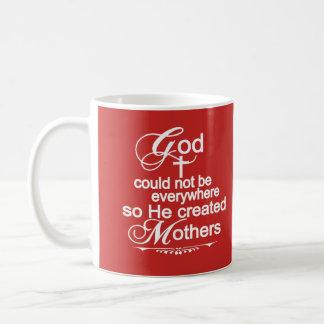 Caneca De Café O deus não poderia estar em toda parte assim que