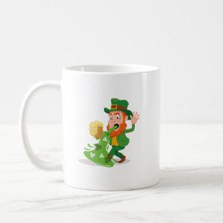 Caneca De Café O dia de St Patrick engraçado do Leprechaun