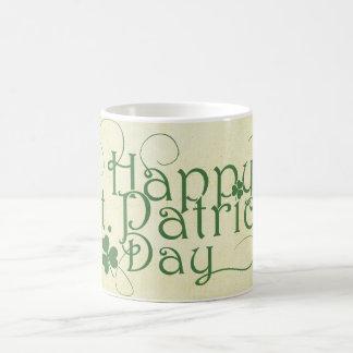 Caneca De Café O dia de St Patrick feliz rústico