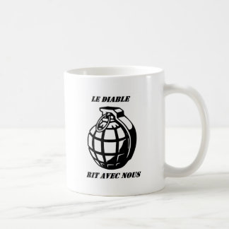 Caneca De Café o diabo ri connosco