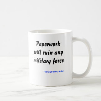 Caneca De Café O documento arruinará toda a força militar,