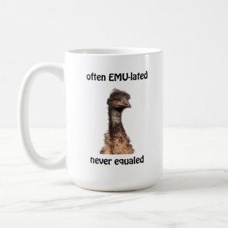 Caneca De Café O eMU-lated do Emu frequentemente nunca igualou a