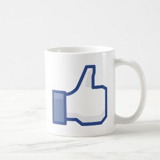 Caneca De Café o facebook GOSTA de me de manusear acima!