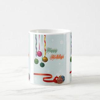 Caneca De Café O feriado feliz ornaments a versão 2