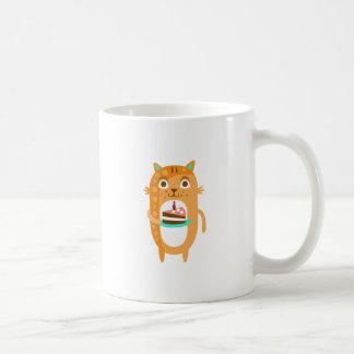 Caneca De Café O gato com partido atribui a WTI Funky estilizado