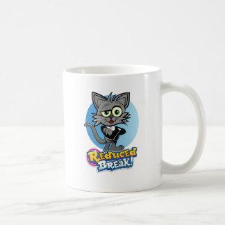 Caneca De Café O gato louco reduzido da ruptura!