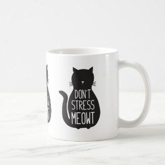 Caneca De Café O gato preto engraçado não força Meowt
