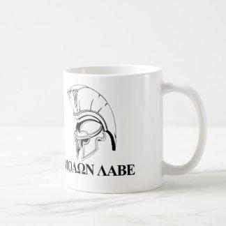Caneca De Café O grego espartano vem obter-lhe Molon Labe