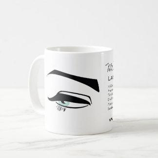 Caneca De Café O henna preto dos olhos azuis do Eyeliner compo o