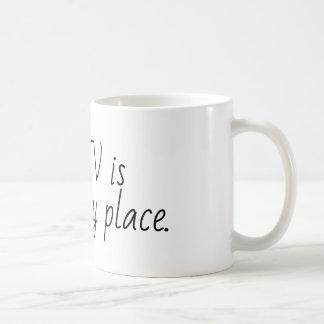Caneca De Café o hgtv é meu lugar feliz