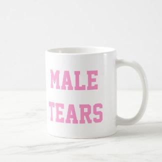 Caneca De Café O homem rasga o rosa irónico de Misandry