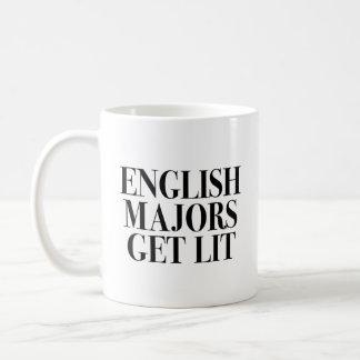 Caneca De Café O inglês Majors Obtenção Lit