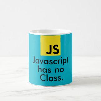 Caneca De Café O Javascript não tem nenhuma classe
