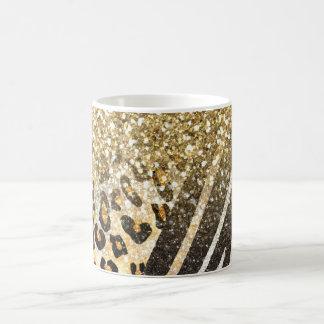 Caneca De Café O leopardo e a zebra na moda femininos