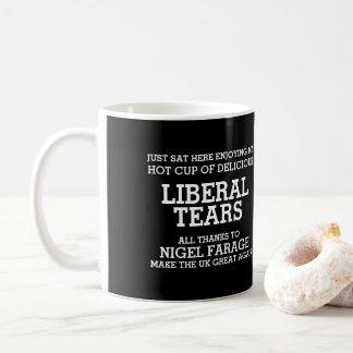 Caneca De Café O liberal rasga obrigados a Nigel Farage Brexit