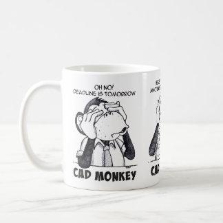 Caneca De Café O macaco do Cad vê para ouvir-se para não falar