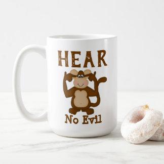 Caneca De Café O macaco engraçado não ouve nenhum mau