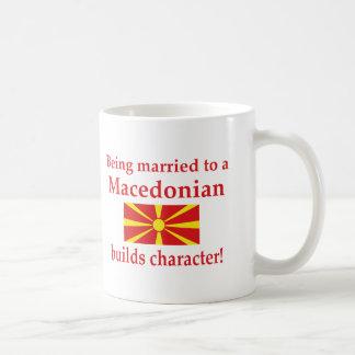 Caneca De Café O macedónio constrói o caráter