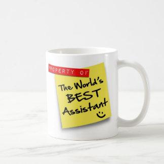 Caneca De Café O melhor cargo assistente do mundo