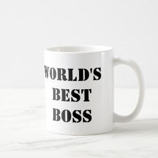 Caneca De Café O melhor chefe do mundo do escritório