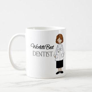 Caneca De Café O melhor dentista do mundo, mulher