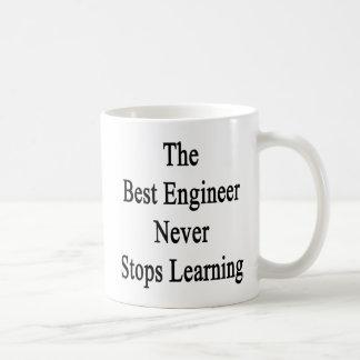 Caneca De Café O melhor engenheiro nunca para de aprender
