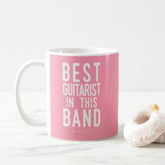 Caneca De Café O melhor guitarrista (talvez) (branco)