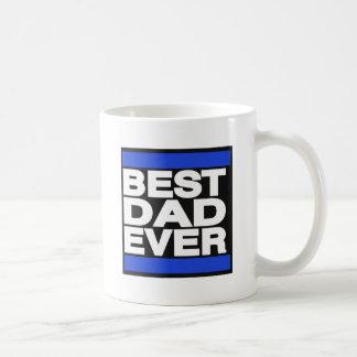 Caneca De Café O melhor pai sempre azul