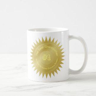 Caneca De Café O melhor presente do selo da medalha de ouro da