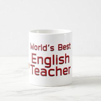 Caneca De Café O melhor professor de inglês do mundo com livros