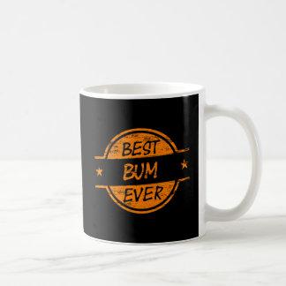 Caneca De Café O melhor vagabundo sempre alaranjado