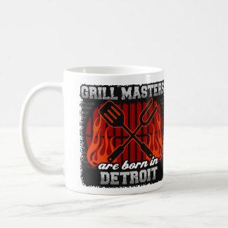 Caneca De Café O mestrado da grade é nascido em Detroit Michigan